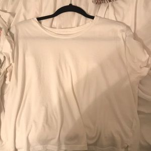 White cropped shirt from Tillys